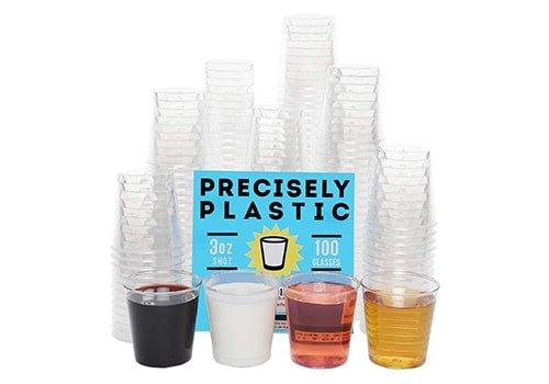 100 Shot Glasses Premium Clear Plastic Cups