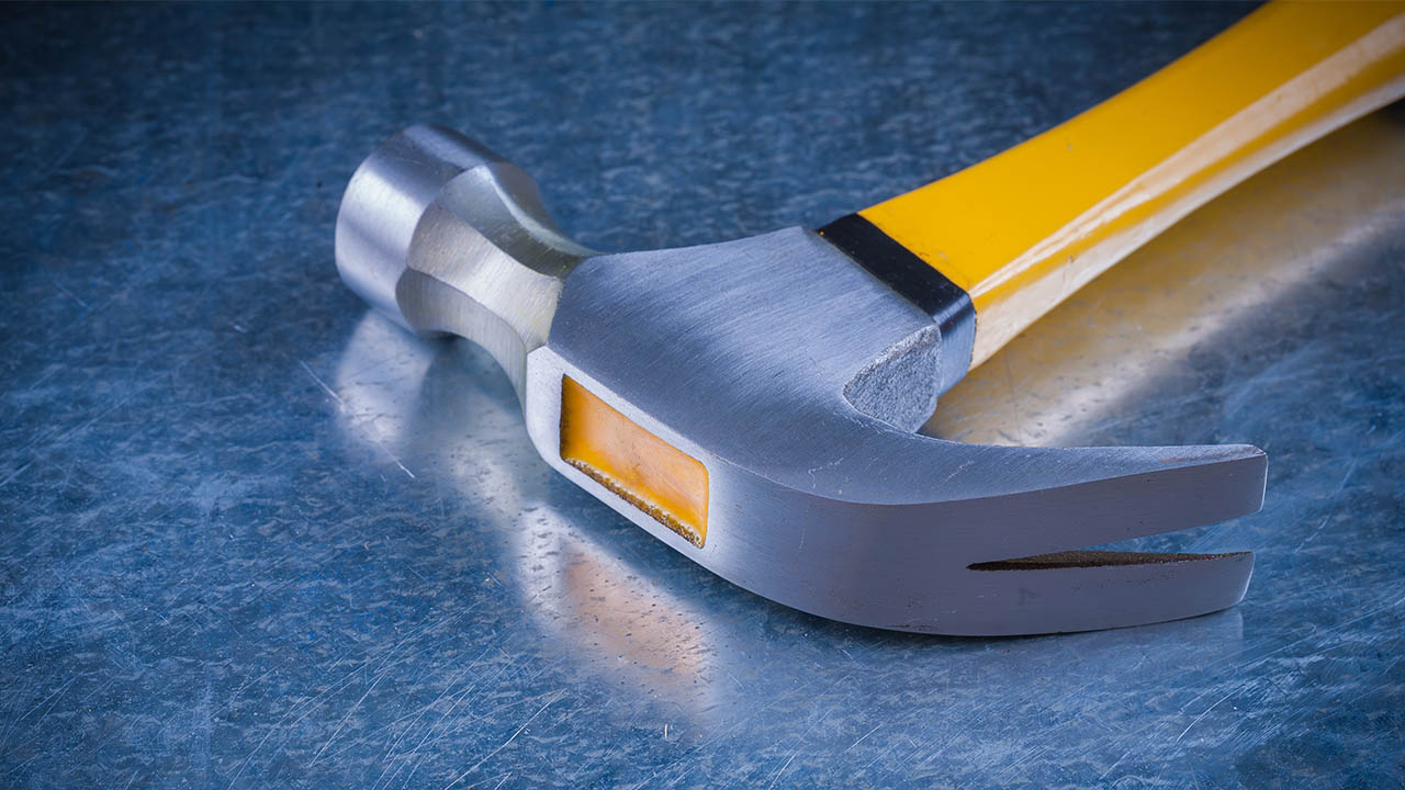 Claw Hammer with smooth face For Vinyl Siding