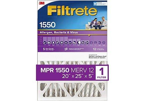 Filtrete 20x25x5 AC Furnace Air Filter MPR 1550 DP